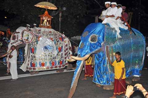 Prozession Navam Perahera Colombo Sri Lanka
